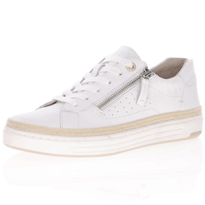 Jana - Soft Line 23650 Leather Trainer, White