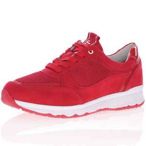 Jana - Soft Line 23663 Lace-Up Trainer, Red