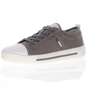 Jana - 23664 Classic Canvas Trainer, Grey