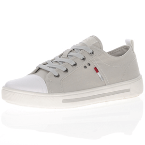Jana - 23664 Classic Canvas Trainer, Light Grey