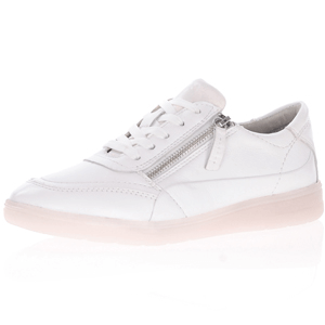 Jana - Soft Line 23750 Leather Wide Fit Trainer, White