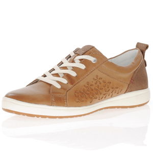 Josef Seibel - Caren 06 Leather Lace Up Trainer, Camel