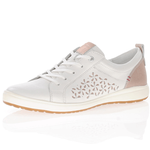 Josef Seibel - Caren 06 Leather Lace Up Trainer, White