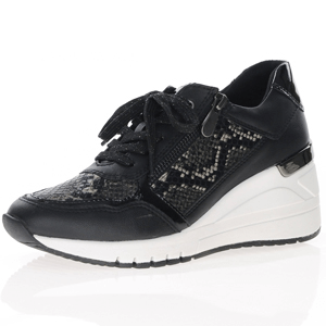 Marco Tozzi - 23743 Wedge Trainer, Black