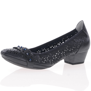 Marco Tozzi - 22505 Heeled Court Shoe, Dark Navy
