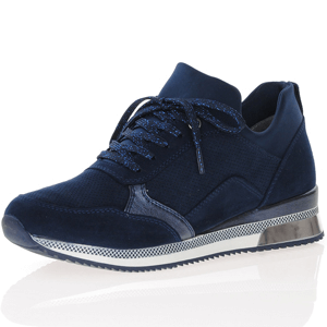 Marco Tozzi - 23784 Low Wedge Sock Trainers, Navy