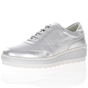 Notton - 281346 Leather Platform Brogues, Silver