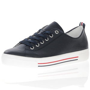 Remonte - D0900-15 Leather Lace Up Trainer, Navy