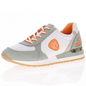 Remonte - R2527-53 Leather Lace-Up Trainer, Green Multi