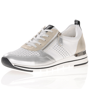 Remonte - R6702-81 Side Zip Trainers, White Multi