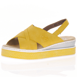 Rieker - V48B4-68 Sling Back Sandal, Yellow