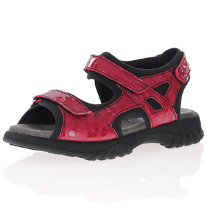 Softmode - Camino Patent Leather Sandals, Red