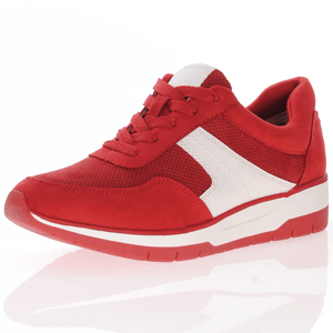 Tamaris - 23713 Lace Up Trainer, Red