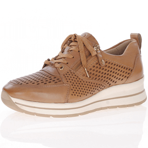 Tamaris - 23740 Leather Trainer, Camel