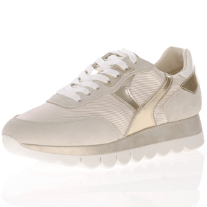 Tamaris - 23746 Leather Platform Trainer, Beige