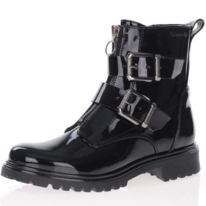 Tamaris - 25794 Patent Biker Boot, Black