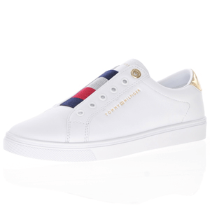 Tommy Hilfiger - Leather Slip-On Trainer, White