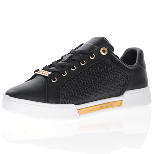 Tommy Hilfiger - Leather Lace-Up Trainer, Black