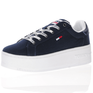 Tommy Hilfiger - Canvas Platform Trainer, Navy