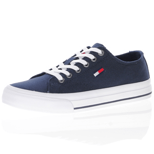 Tommy Jeans - Canvas Lace Up Trainer, Navy