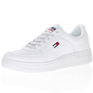 Tommy Jeans - Leather Lace-Up Trainer, Reflective White
