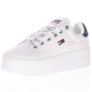Tommy Jeans - Canvas Platform Trainer, White
