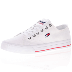Tommy Jeans - Canvas Lace-Up Trainer, White