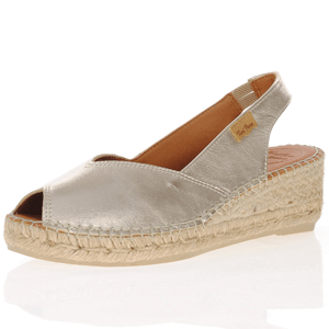 Toni Pons - Bernia-P Low Wedge Espadrille, Platinum