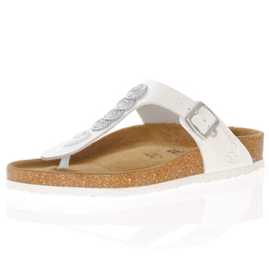 Rieker - V9489-80 Toe Post Sandals, White