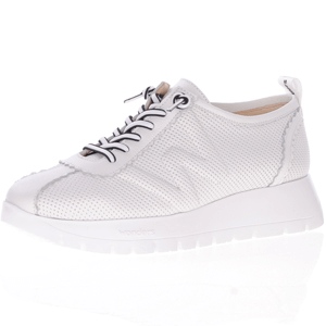 Wonders - A-2403 Leather Platform Trainer, White