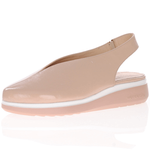 Wonders - A-9705 Leather V Cut Shoe, Nude