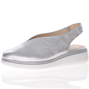 Wonders - A-9705 Leather V Cut Shoe, Silver