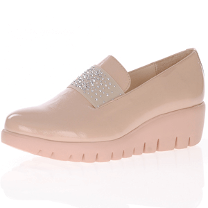 Wonders - C-33158 Low Wedge Loafer, Nude