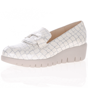 Wonders - C-33244 Low Wedge Loafer, Off-White