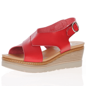 Xti - 42232 Sling Back Wedge Sandal, Red