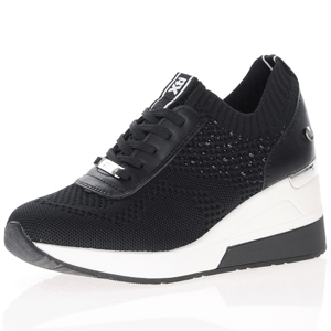 Xti - 42593 Wedge Mesh Trainers, Black