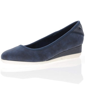 s.Oliver - 22302 Low Wedge Pump, Navy