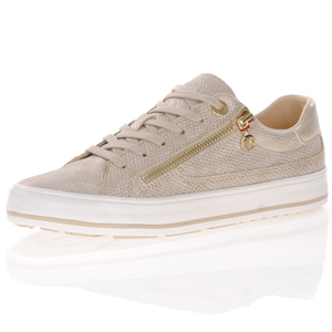 s.Oliver - 23615 Lace Up Trainers, Champagne