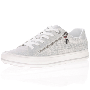 s.Oliver - 23615 Lace Up Trainers, Silver
