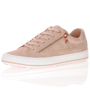 s.Oliver - 23615 Lace Up Trainers, Rose