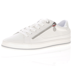 s.Oliver - 23615 Lace Up Trainers, White