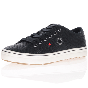 s.Oliver - 23640 Lace Up Trainers, Black