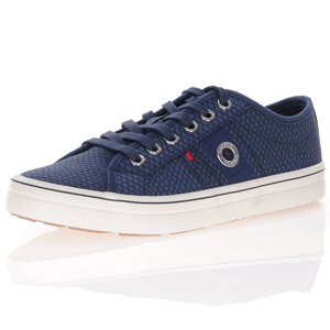 s.Oliver - 23640 Lace Up Trainers, Navy