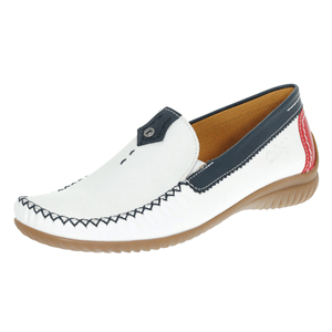 Gabor - 090.69 Flat Leather Moccasin, White