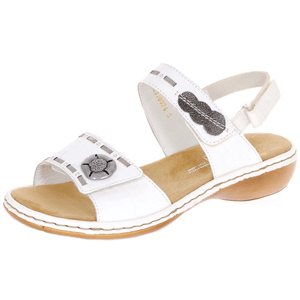 Rieker - 65972-82 Ladies Leather Sandal, White