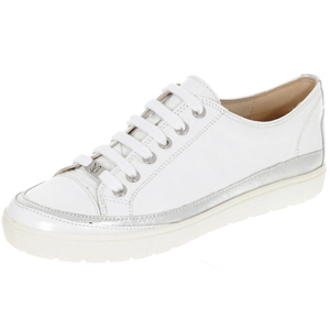 Caprice - 23654 Leather Trainer, White