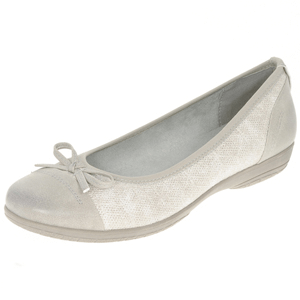 Soft Line By Jana - 22168 Ladies Wide Fit Pump, Grey