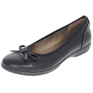 Jana - Soft Line 22168 Ladies Wide Fit Pump, Black